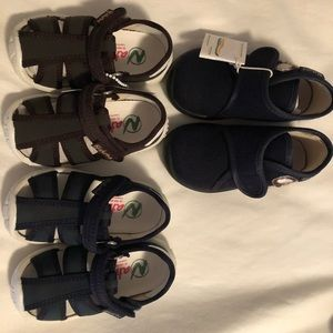 Naturino Lot of boys shoes 21 6 M blue brown